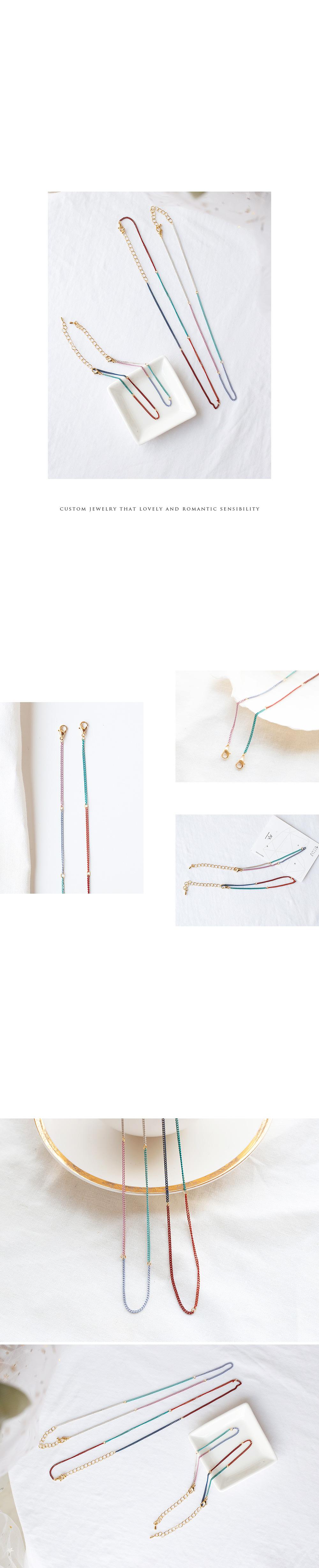 알롱달롱 체인 목걸이 - 폭스타일글로벌주식회사, 8,000원, 패션, 패션목걸이