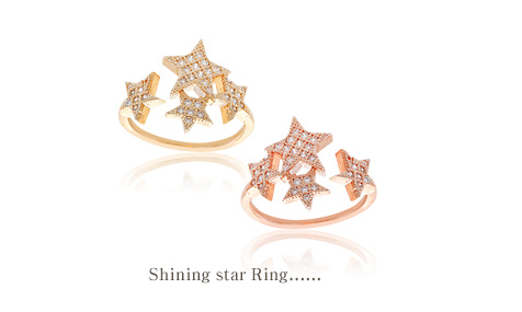 [ 4xtyle ] SHINING STAR RING
