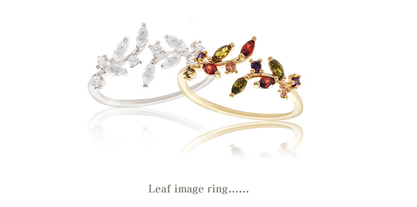 [ 4xtyle ] Women Leaf Image Ring, 3 Colors