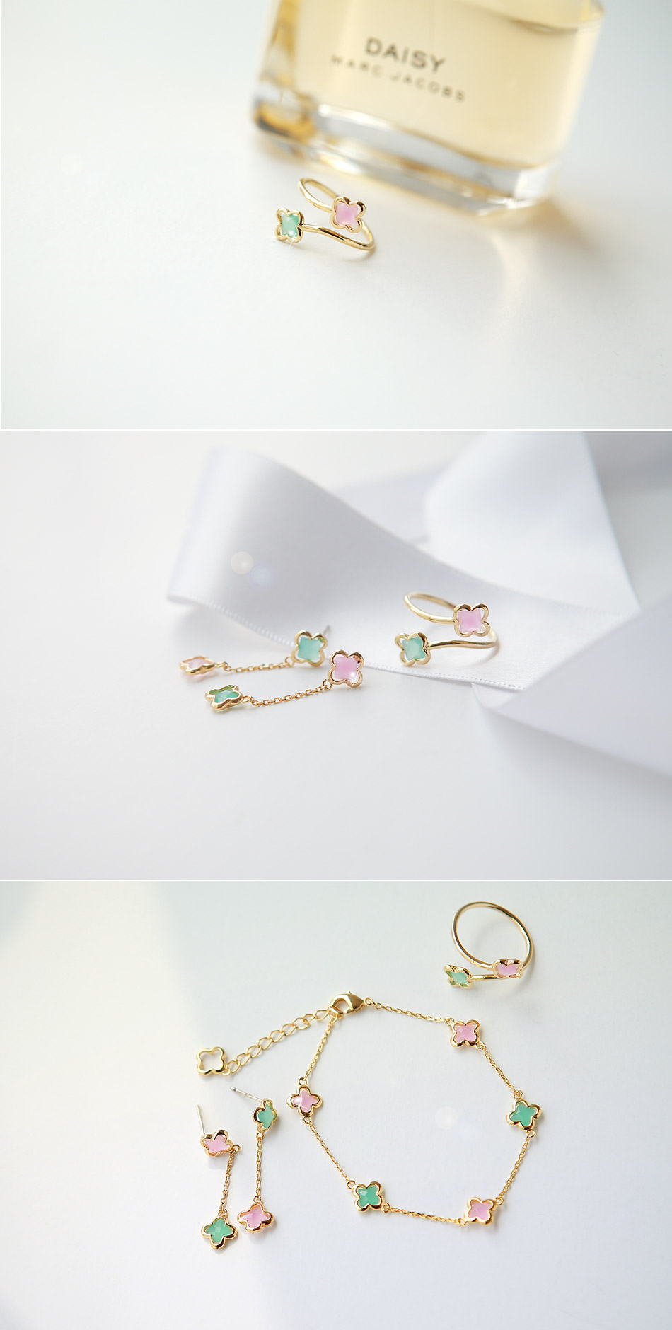 [ 4xtyle ] Women Pastel Flower Ring, One Color