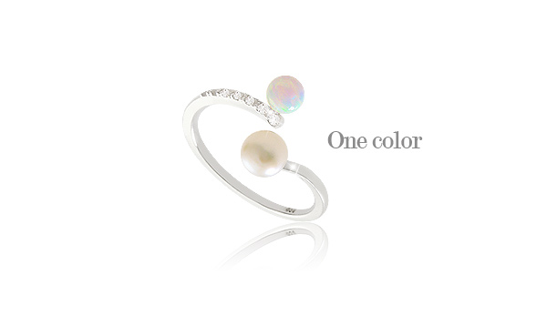[ 4xtyle ] Brilliant Opal Silver Ring, One Color
