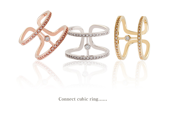 [ 4xtyle ] Connect Cubic Ring, 3 Colors