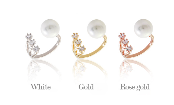 [ 4xtyle ] Pure Pearl Point Ring, 3 Colors