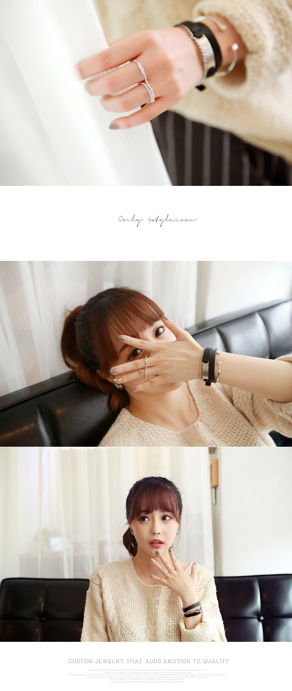 [ 4xtyle ] Women Tasty Double Ring, 2 colors