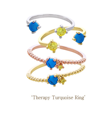 [ 4xtyle ] THERAPY TURQUOISE RING (WHITEGOLD)