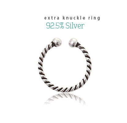 [ 4xtyle ] Extra Knuckle Silver Ring, One Color