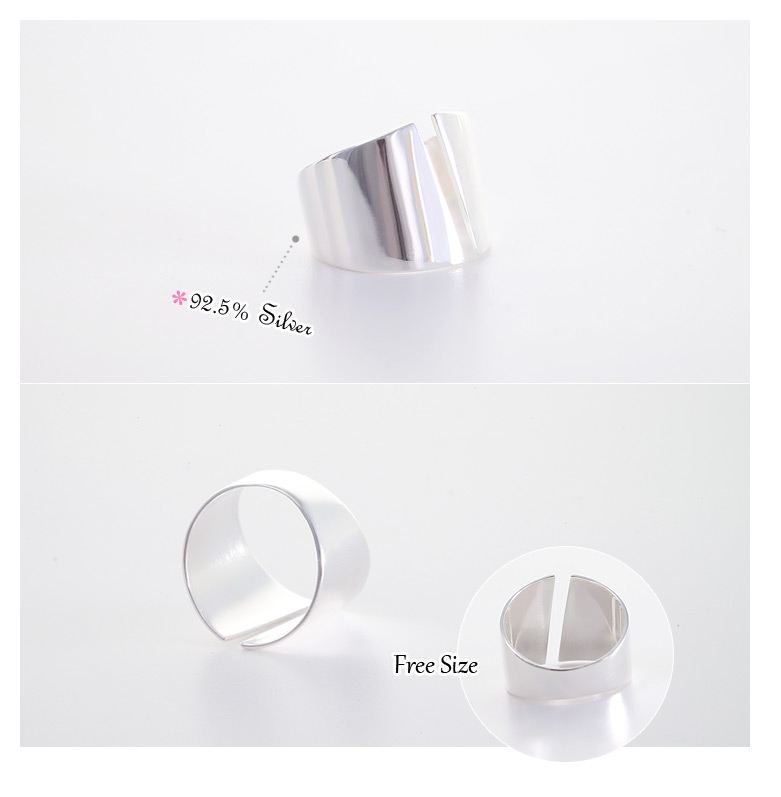 [ 4xtyle ] Avens Silver Ring, One Color