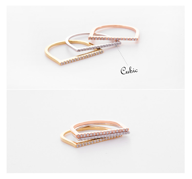 [ 4xtyle ] Women Edge Stick Ring, 3 Colors