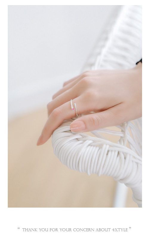 [ 4xtyle ] Urban Mini Cubic Silver Ring, 3 Colors