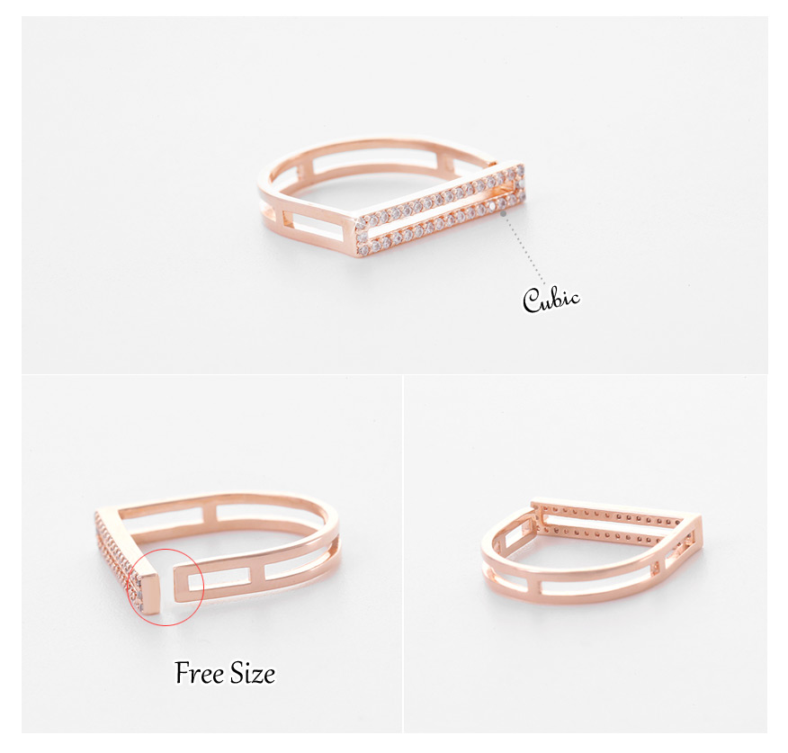 [ 4xtyle ] Women Weve Stick Ring, 3 Colors
