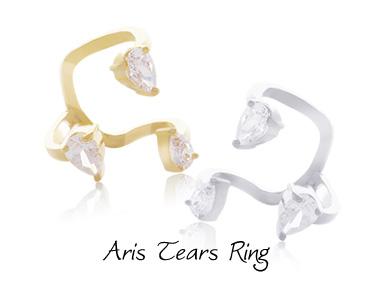 [ 4xtyle ] Women Aris Tears Ring, 2 Colors