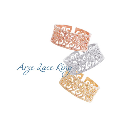 [ 4xtyle ] Women Arze lace Ring, 3 Colors
