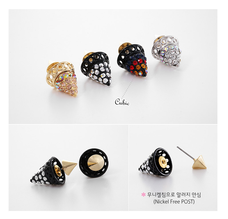 [ 4xtyle ] Crush Unique Earring, 4 Colors