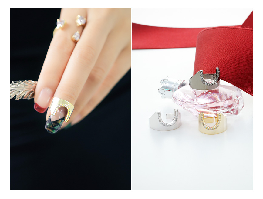 [ 4xtyle ] Women Mandy Nail Ring, 3 colors