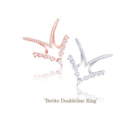 [ 4xtyle ] Berite Doubleline Ring, 3 Colors