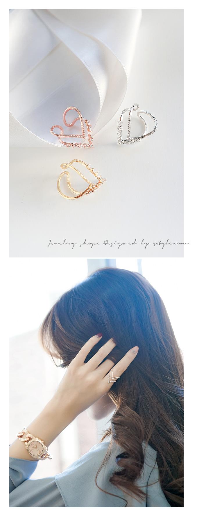 [ 4xtyle ] Berite Doubleline Ring, 3 Colors