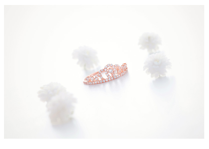 [ 4xtyle ] Women Elo Tiara Ring, 3 Colors