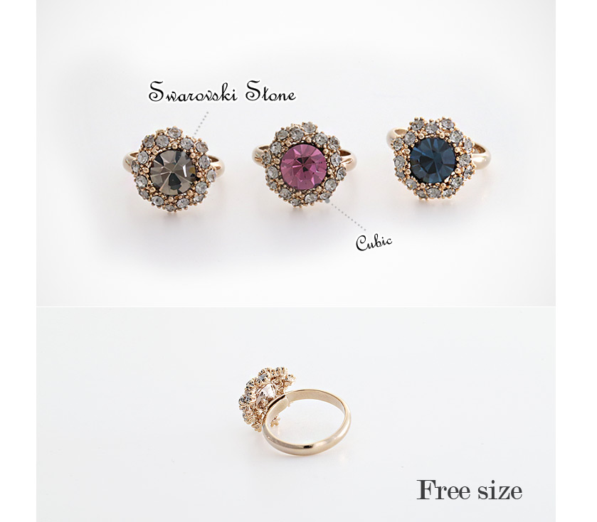 [ 4xtyle ] Frang Colorstone Ring, 3 Colors