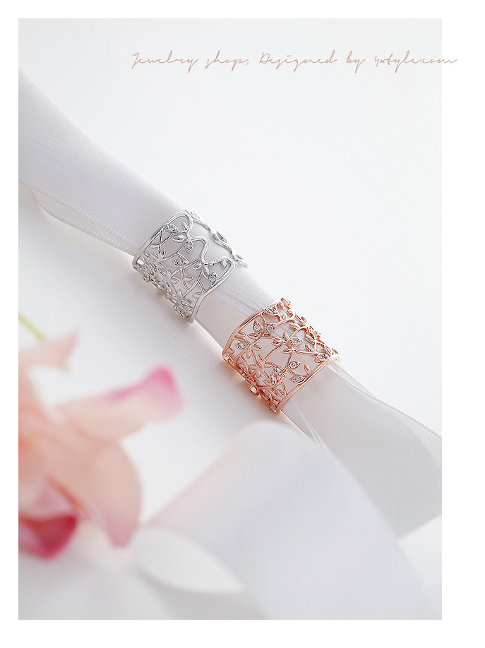 [ 4xtyle ] Leaf Wide Ring, 3 Colors