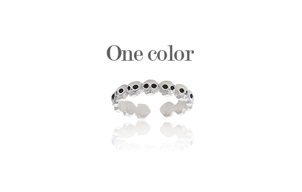 [ 4xtyle ] Preto Silver Ring, One Color