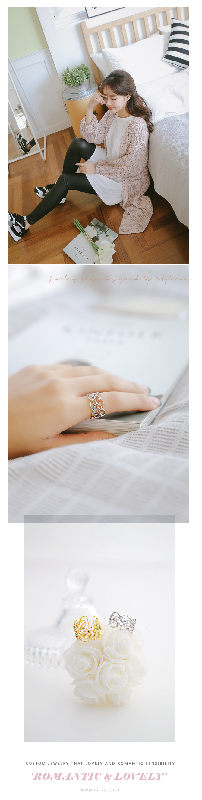 [ 4xtyle ] Women Riang Lace Ring, 3 Colors