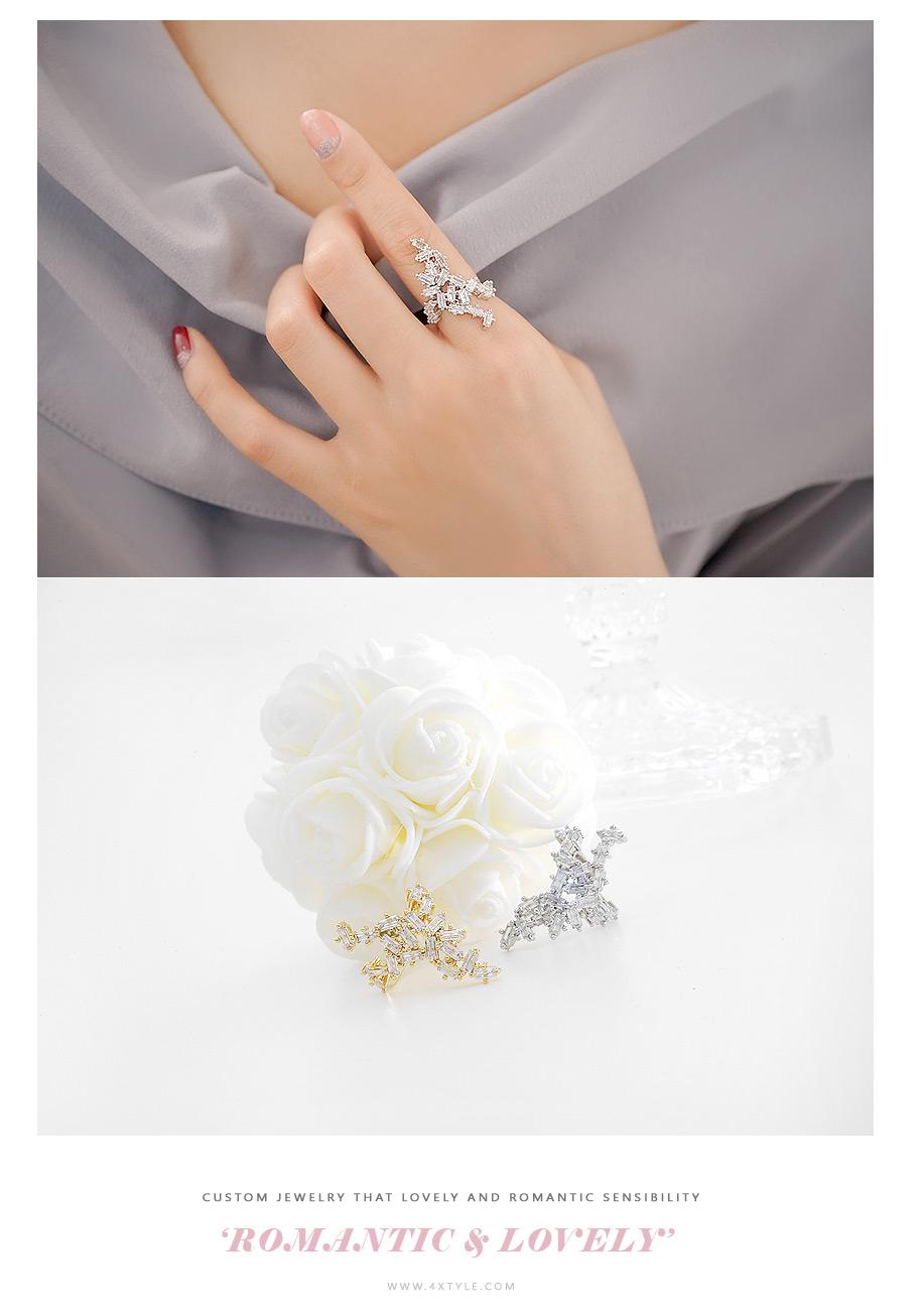 [ 4xtyle ] Truefit Cubic Ring, 2 Colors