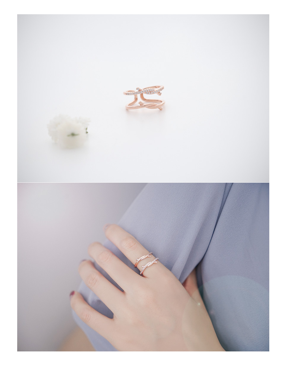 [ 4xtyle ] Women Layered Ring, 3 Colors