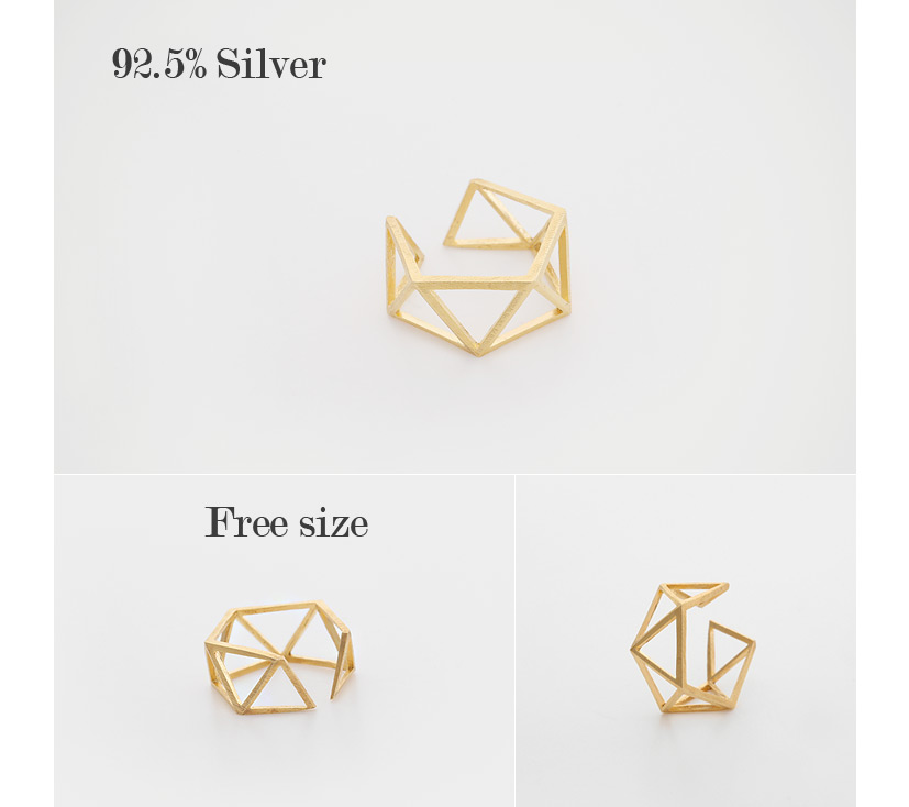 [ 4xtyle ] Triangle Silver Ring, 3 Colors