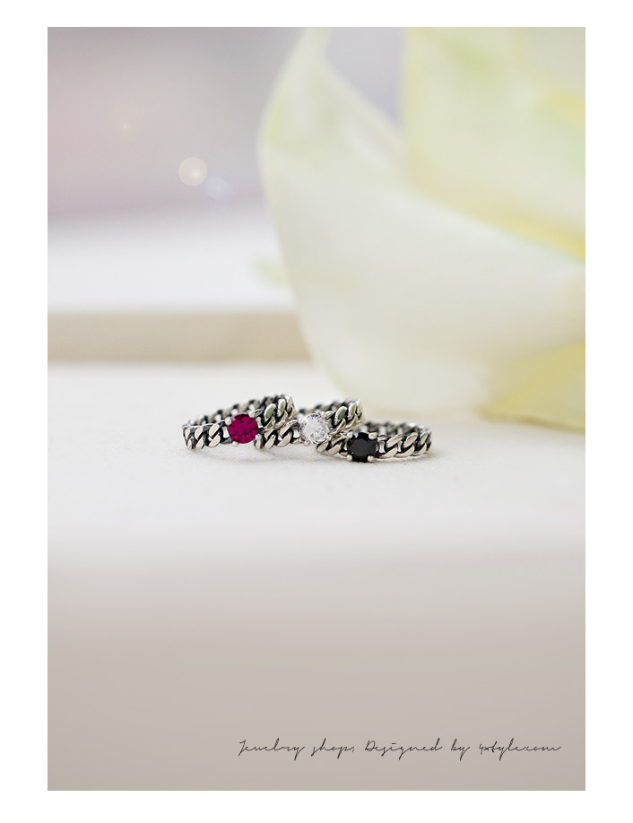 [ 4xtyle ] Frank Twisted Silver Ring, 3 Colors