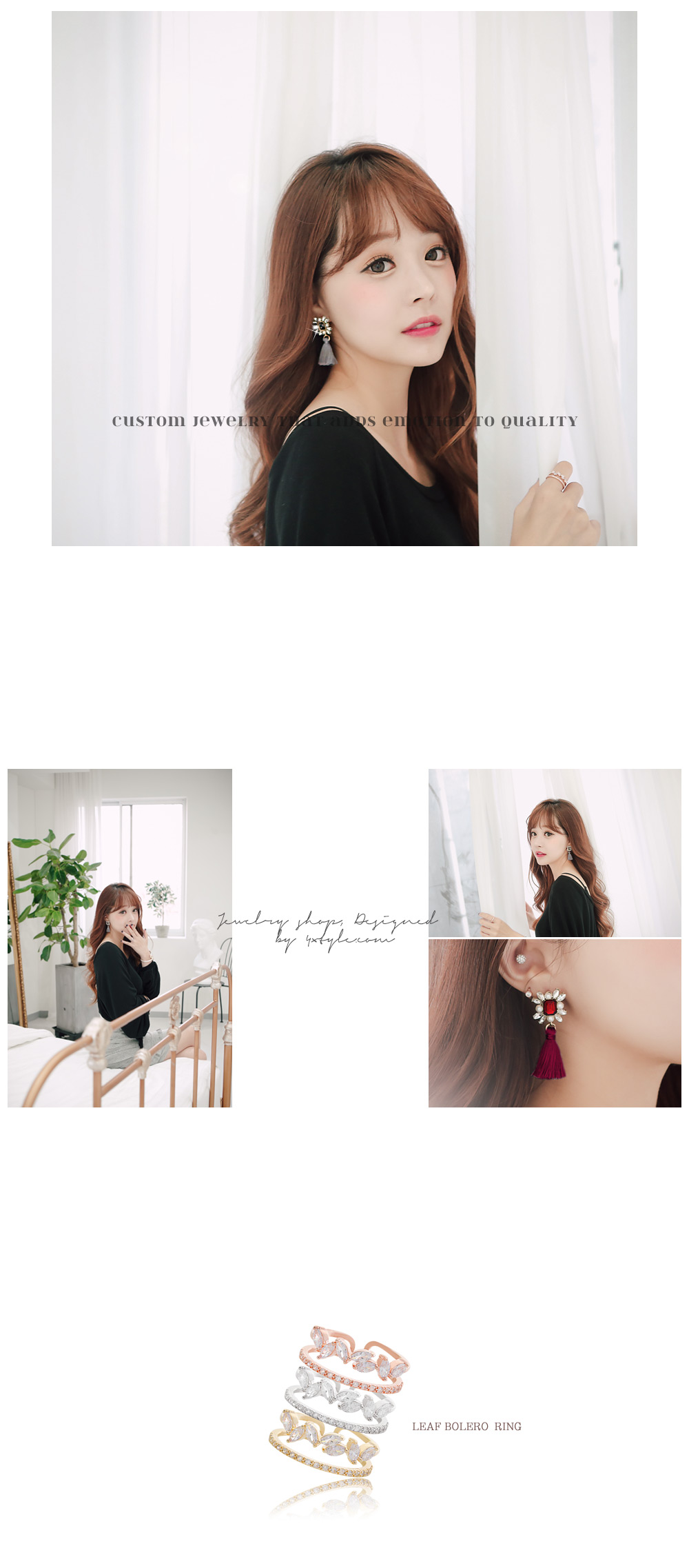 [ 4xtyle ] Leaf Bolero Ring, 3 Colors