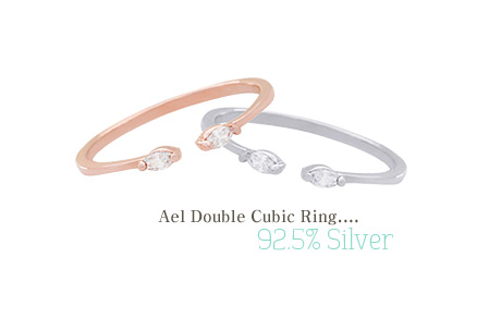 [ 4xtyle ] [4xtyle] Ael Double Cubic Silver Ring, 2 Colors