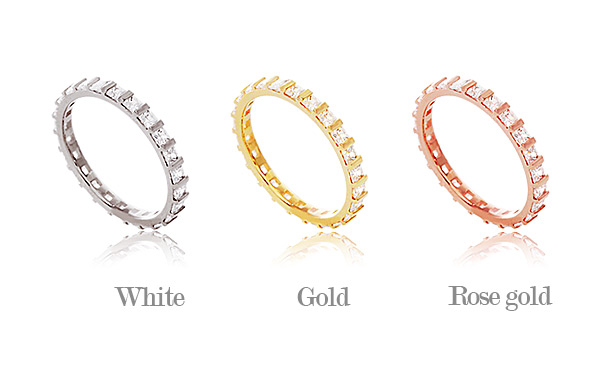 [ 4xtyle ] [4xtyle] Begin Cubic Silver Ring, 3 Colors
