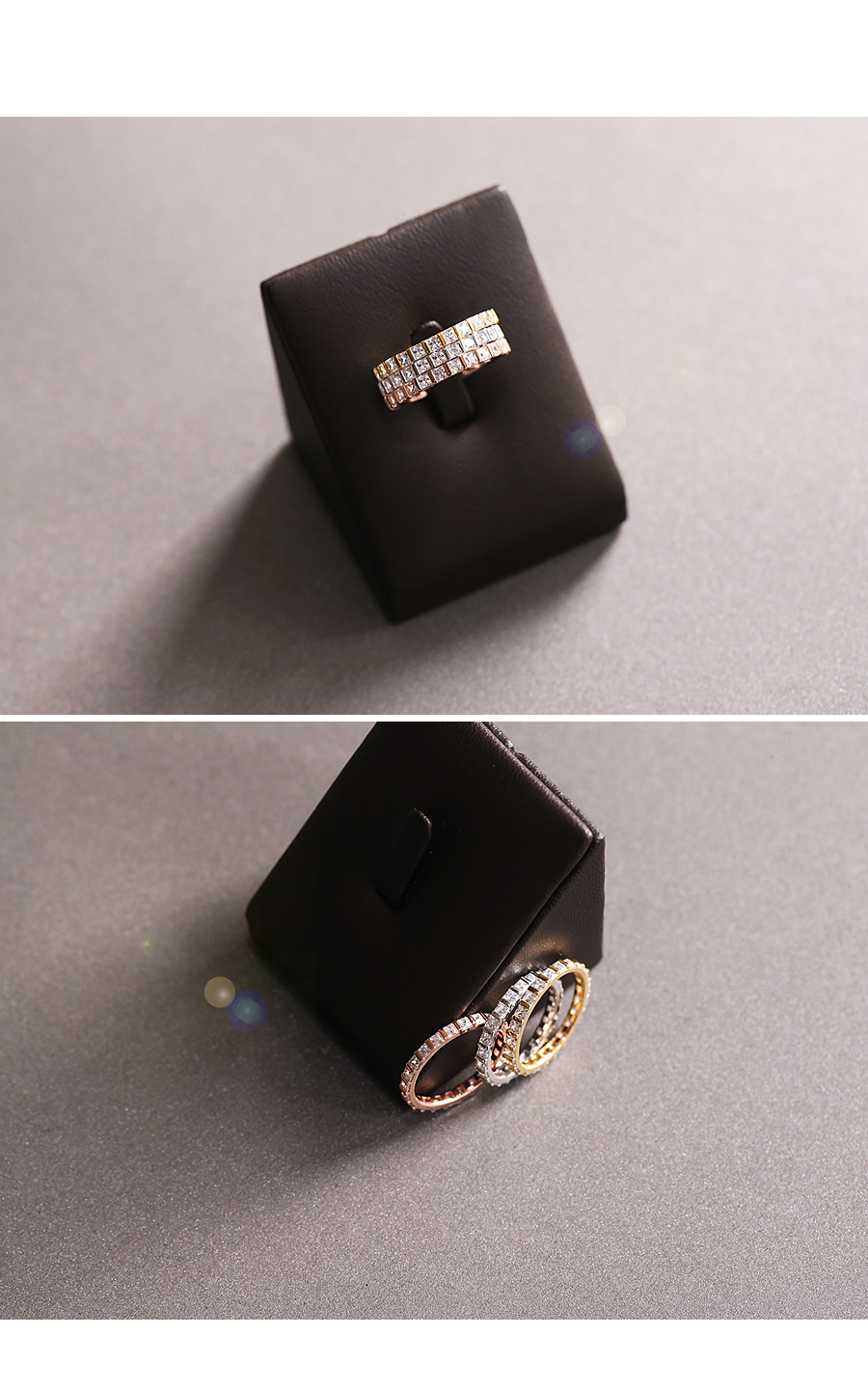 [ 4xtyle ] Begin Cubic Silver Ring, 3 Colors