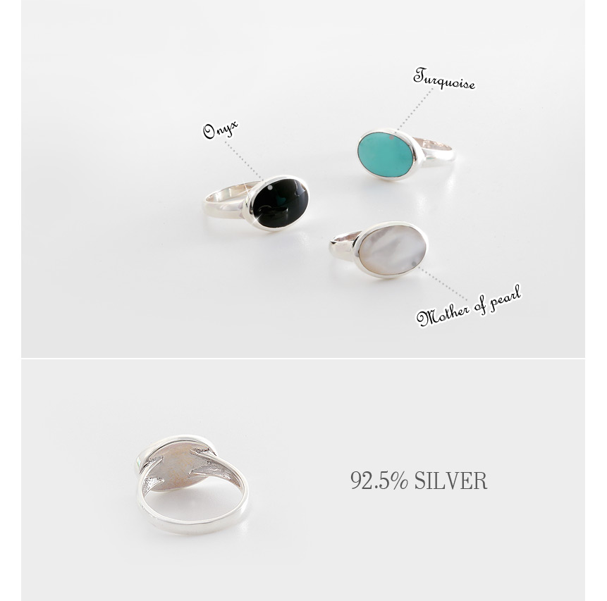 [ 4xtyle ] [4xtyle] Notting Hill Silver Ring, 3 Colors