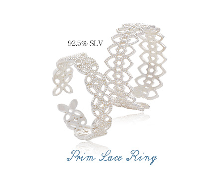 [ 4xtyle ] [SILVER] PRIN LACE RING