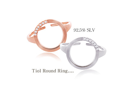 [ 4xtyle ] Tiol Round Silver Ring, 2 Colors