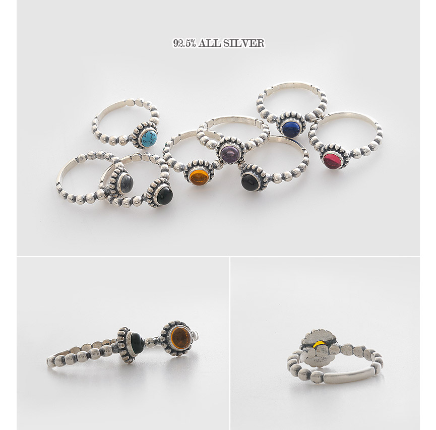 [ 4xtyle ] Macadamia Silver Ring, 9 Colors