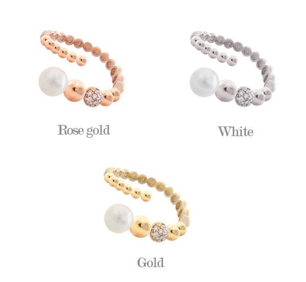 [ 4xtyle ] Rusa Pearl Ring, 3 Colors