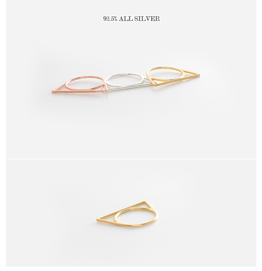 [ 4xtyle ] [SILVER] SLIM UNIQUE RING (GOLD/ROSEGOLD)