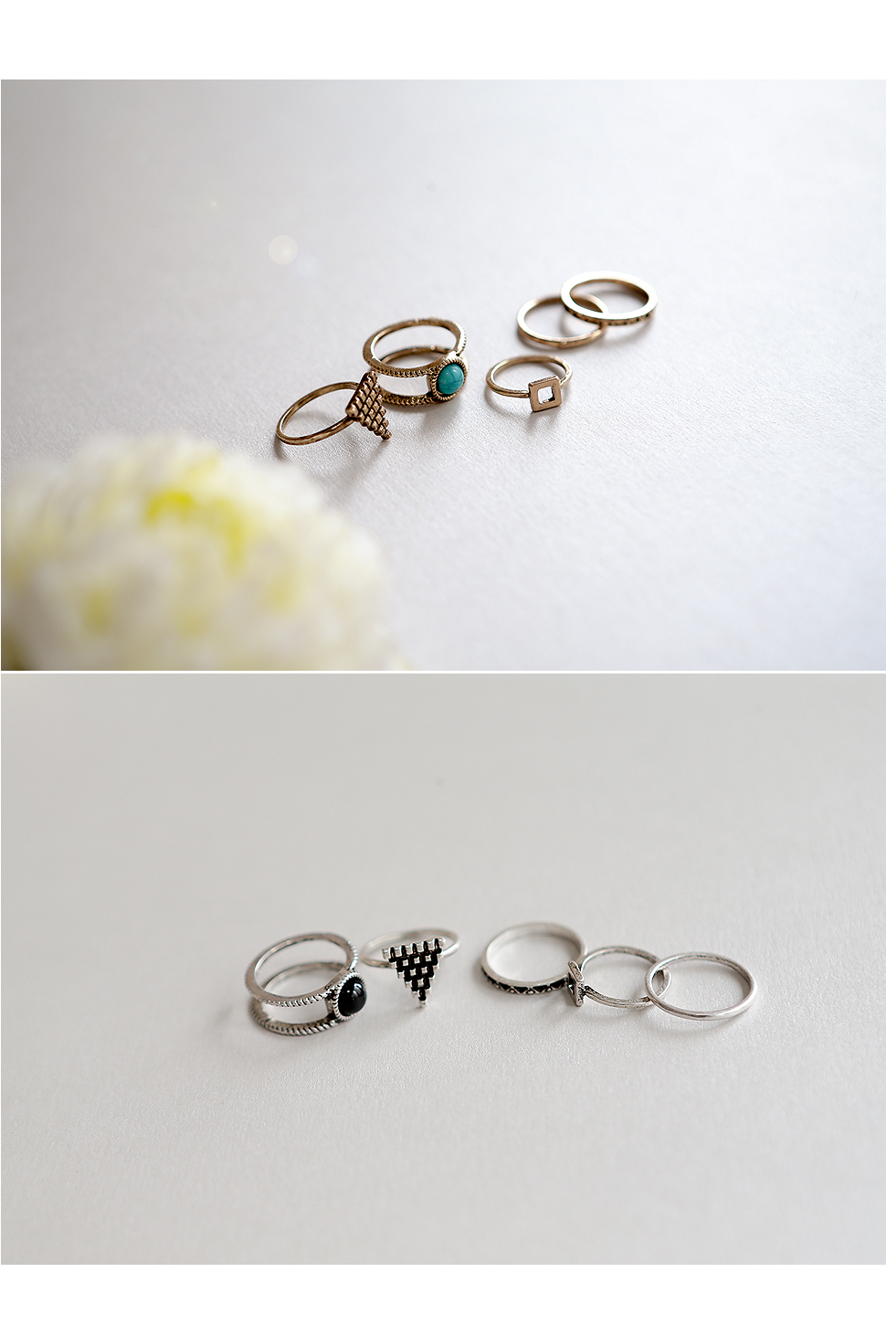 [ 4xtyle ] (5EA 1SET) ARCO VINTAGE RING