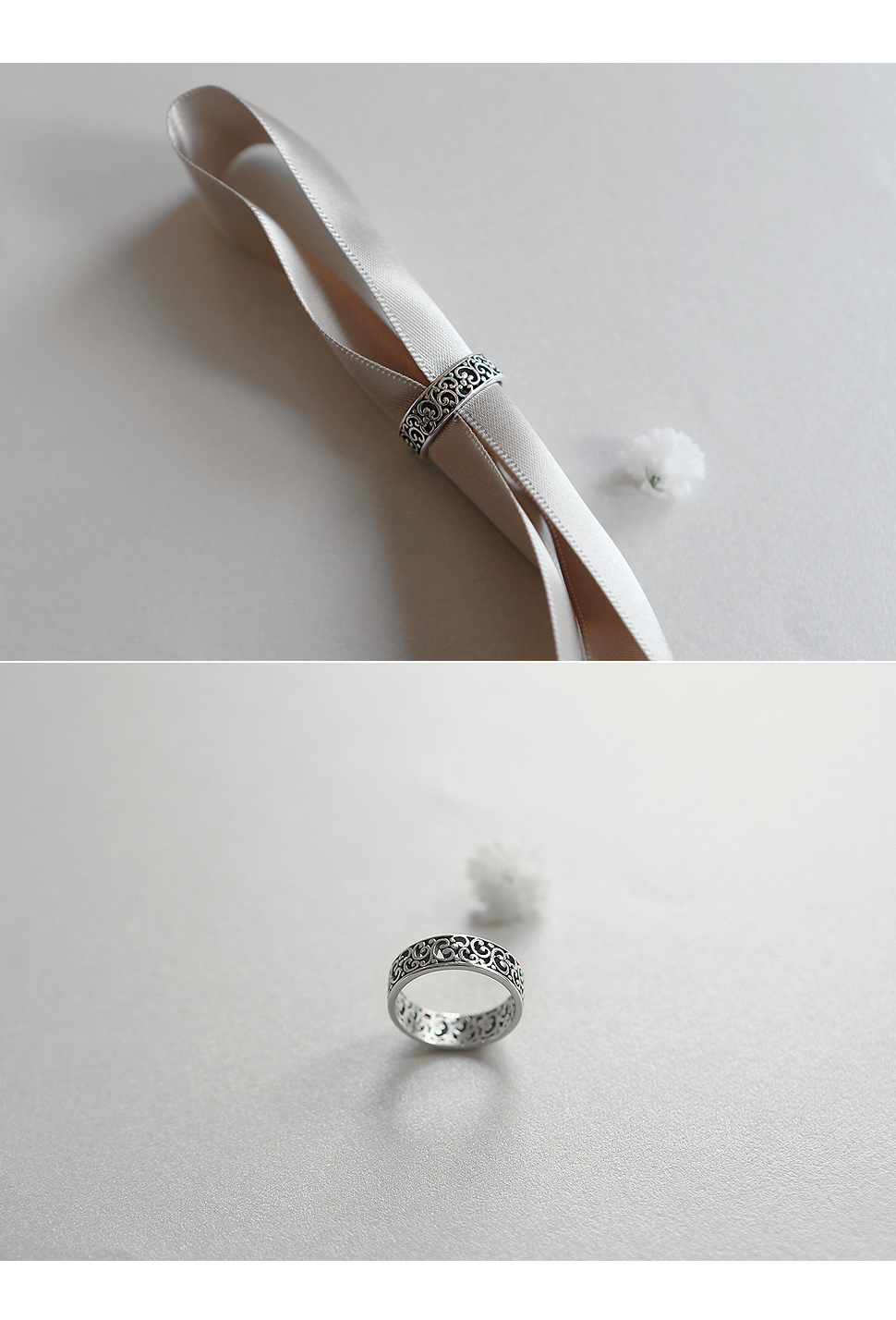 [ 4xtyle ] [SILVER] PANSY RING