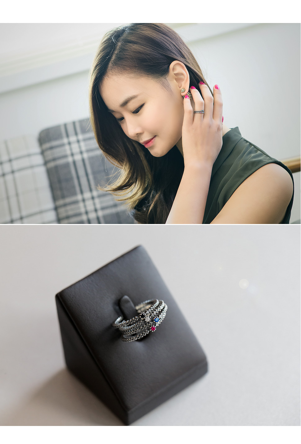 [ 4xtyle ] [SILVER] SLIM PETITE RING