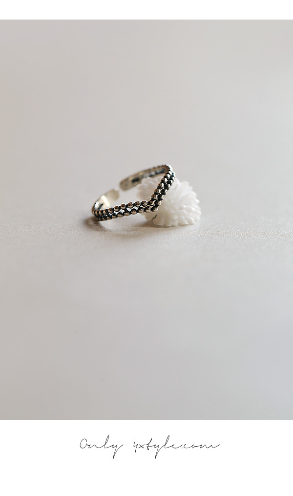[ 4xtyle ] [SILVER] WAVE ANTIQUE RING