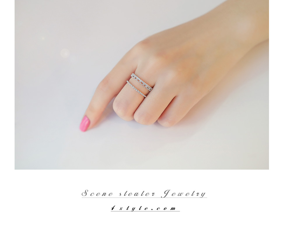 [ 4xtyle ] DOUBLE LINE LACE RING