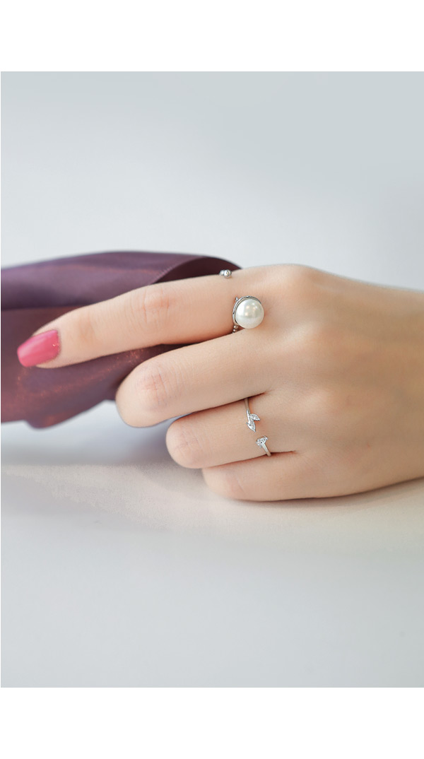 [ 4xtyle ] CRESENDO PEARL RING