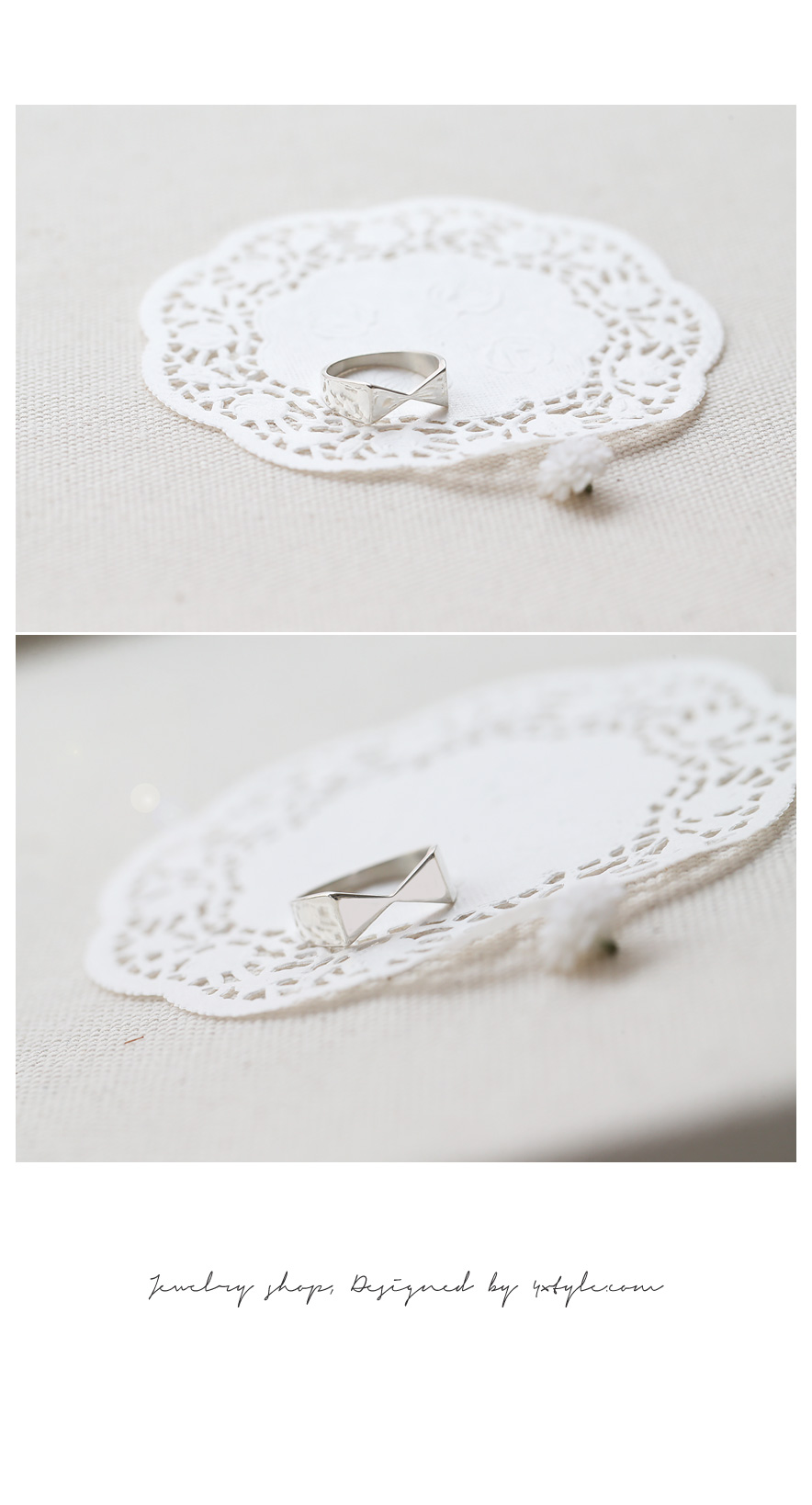 [ 4xtyle ] [SILVER] RIBBON TIE RING