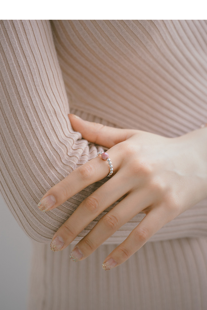 [ 4xtyle ] [SILVER] MARTINI GEMSTONE RING