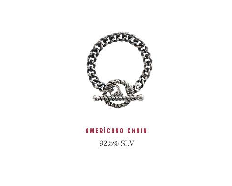 [ 4xtyle ] [银] AMERICANO 链环