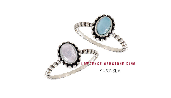 [ 4xtyle ] [SILVER]LAWRENCE GEMSTONE RING