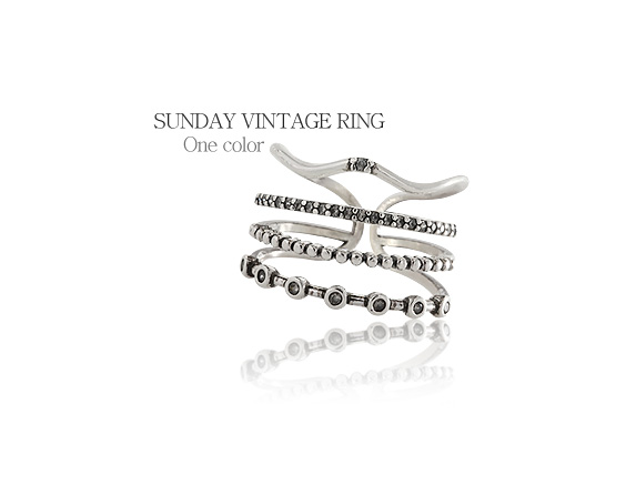 [ 4xtyle ] SUNDAY VINTAGE RING